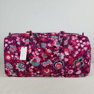 Vera Bradley Large Duffel Bag Bloom Berry NWT